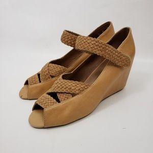 Jeffrey Campbell Elgie leather wedge heels sandals